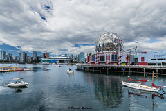 The View at the End (sierrasylvan) Tags: adobe adobebridgecc2017 adobelightroomcc2015 boats sailboats motorboat yachts buildngs skyscrapers canon canonef1635mmf28liiusmlens canoneos6d filter bwmrcfprokaessermancircularpolarizingfilter ocean pacificocean people canada britishcolumbia southcoastregion lowermainlanddistrictnewwestminister vancouver falsecreek scienceworldattelusworldofscience creeksidepark thevillagedock trees architecture black blue city cityscape clouds dock gray green orange outdoor park red reflection shore sky summer water inlet white yellow