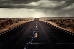"""""""Goin' Wherever it Leads"""" (garshna) Tags: highway stripes field clouds pavement asphalt desolation isolation hss"""
