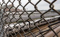 Subway trains at Hudson Yards (maaachuuun) Tags: newyork nyc manhattan hudsonyards trains 11thave tamron 1530mm usa equirect thehighline