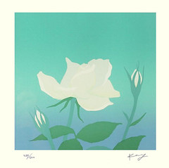 Rose (Japanese Flower and Bird Art) Tags: flower rose rosa rosaceae kay shimizu modern screenprint print japan japanese art readercollection