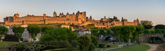 Cité de Carcassonne, panoramic shot (andbog) Tags: sony alpha ilce a6000 sonya6000 emount mirrorless csc sonya oss sel france francia fr architecture architettura building languedocroussillon medieval wall remparts sonyα sony⍺6000 sonyilce6000 sonyalpha6000 sonyalpha ⍺6000 ilce6000 apsc occitanie occitania midipyrénées aude carcassonne unesco unescoworldheritagesite patrimoniodellumanità palazzo battlements merli merlons merlatura stitch panorama microsoftimagecompositeeditor widescreen panoramicshot 55210mm sel55210 sunsetlight