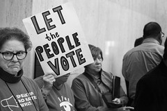 Let the People Vote (mfhiatt) Tags: img66151017jpg desmoines iowa protest desmoinesprotests vote votersuppression rally street streetphotography 365the2017edition 3652017 day289365 16oct17