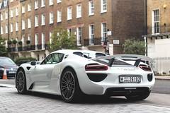 e-hybrid (Beyond Speed) Tags: porsche 918 spyder 918spyder supercar supercars car cars carspotting nikon v8 hybrid white spoiler carbon uk london knightsbridge automotive automobili auto limited