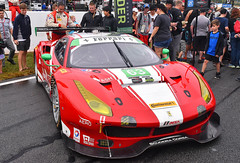 The Ferrari 488 GT3 of Scuderia Corsa (Thumpr455) Tags: 2017 imsa petitlemans race roadatlanta braselton ga october nikon d5500 autoracing car auto automobile sportscar worldcars ferrari 488 gt3 scuderiacorsa italian red gtd gridwalk afnikkor1855mmf3556vrii 63