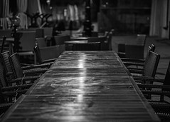 table top (Krzysztof Krr) Tags: sony a6000 nex poznań table sel50f18 chairs bw old town emptiness