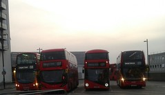 Streatham Bus Station | HV33 (LJ11EFZ) HA43 (LK66HBN) LT623 (LTZ1623) 2535 (YY16YKB) (Unorm001) Tags: hv33 ha43 lt623 2535 lj11efz lk66hbn ltz1623 yy16ykb hv 33 ha 43 lt 623 lj11 efz lk66 hbn ltz 1623 yy16 ykb red london double deck decks decker deckers buses bus routes route 133 159 streatham station transport for tfl diesel hybrid