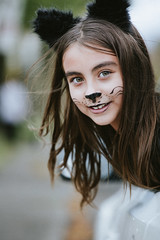 *** (Gabriela Tulian) Tags: makeup october leaves kid halloween happy holiday outdoors outside young youth pretty portrait paint people person girl caucasian child cat art autumn childhood face facepaint fall cute costume adorable
