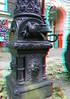 historische Wasserpumpe, nach altem Vorbild neu gegossen. (rolfmarquardt) Tags: anaglyph 3d stereo rotgrün rotcyan berlin lauchhammerpumpe wasserpumpe