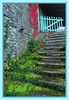 Autumn colors (Kike K.) Tags: oldandbeautiful waterfall water mill green colour spring wheel building nature autumn fall canon grass steps architecture red blue azure stone village old istria croatia peninsula river tourism hum outdoor hiking walking 2015