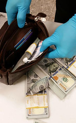 Dulles CBP Seizes $150k in Unreported Currency from Ghana-bound Man (CBP Photography) Tags: cbp customs border protection seized seizure money currency largest dulles