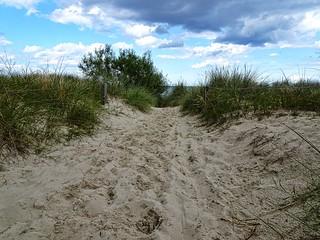Zum Strand   To the beach
