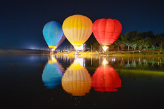 Singha Park Balloon Fiesta 2017 (Patrick Foto ;)) Tags: outdoors adventure air aircraft aviation background balloon balloons basket color colorful dallas dark dusk evening event festival fire flame float fly flying fort gas glow heat hot kungur leisure light lit night park people recreation red reno russia sky sport summer tourism transportation travel up vehicle water winter worth yellow tambonmaekon changwatchiangrai thailand th