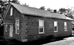 Old building, perhaps a township hall (Will S.) Tags: mypics bw oldbuilding springbrook ontario canada