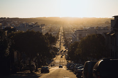 To Make Me Wanna Live Like I Wanna Live Now (Kevin VanEmburgh Photography) Tags: ca california city explore kevinvanemburghphotography sanfrancisco sony travel sunset street road hill mountains