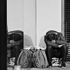 DSCN8984 (Akbar Simonse) Tags: holland netherlands nederland denhaag thehague agga sgravenhage lahaye streetphotography streetshot straatfotografie straatfoto straat urban candid reflection weerspiegeling zwartwit bw blancoynegro bn monochrome akbarsimonse vierkant squareformat