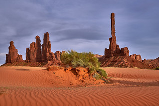 Sunset at Monument Valley - Totem Pole