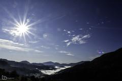 sunrise (alamond) Tags: mountain nature sky landscape outdoors blue scenics mountainrange sun sunlight light tree hill forest morning fog sunrise flare valley canon 7d markii mkii llens ef 1740 f4 l usm alamond brane zalar