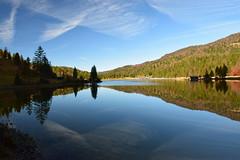 DSC_0238 (stacheltierchen) Tags: reflection ferchensee spiegelung blue sky wolkenlos glas germany wasser water lake landscape