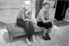 Being Inspired (Steve Lundqvist) Tags: new york usa states united america manhattan stati uniti travel trip viaggio urban city ny nyc portrait persone ritratto fashion moda mood attractive beauty fujifilm x100s mall market store mannequin imitation inspired gesture posture macys bloomingdales saks