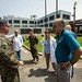 Sailor discusses medical and operational needs of Hima San Pablo Hospital with its staff.