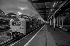 Deltic on tour (Coolcats100) Tags: deltic dorset pokesdown train sigma canon 70d 55009 station diesel black white