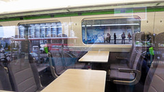 Interior view of 800008 3X16 Reading Traincare Depot - Newport to form 3X06  Newport - Swansea crew training at Newport 22.09.2017 (5) (The Cwmbran Creature.) Tags: british rail train trains railway seat seats standard class iep iet gwr 800