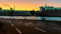 By the harbor (Giannis Samartzis) Tags: harbor ships sunset nikon d3300 35mm blue sea smoke