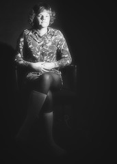 High contrast...1971 (iEagle2) Tags: analog analogfilm analogue blackandwhite blackwhite bw ehefrau female femme frau film legs minolta sweden srt101 woman wife
