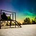 Aurora borealis in Finland (Zeeyolq Photography) Tags: aurora man adventure auroraborealis finland alone nature lapland northernlights rovaniemi laponie finlande snow