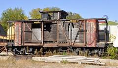 Coopersville, Michigan (1 of 2) (Bob McGilvray Jr.) Tags: coopersville michigan caboose wood wooden rotted neglected railroad train tracks coopersvillemarne pm peremarquette