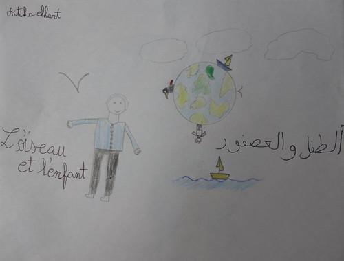 """dessin """"l'oiseau et l'enfant"""" (6)"""