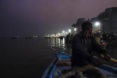 My boat man (Michael Olea) Tags: 2015 travel asia india varanasi ghat