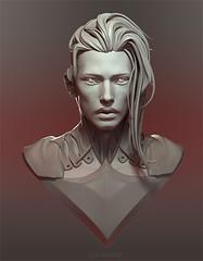 Eiraan (Bluoxyde) Tags: bjd sculpt face portrait eiraan bleuacide doll resin 3d modeling male hairstyle