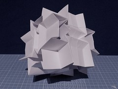 Flexicube (ISO_rigami) Tags: modular origami cube polyhedron flexible kinematic kinetic a4 3d