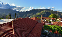 Dafnes Village (free3yourmind) Tags: dafnes village achaea achaia peloponnese greece view panoramic mountains green blue sky roofs top rooftop local traditional destination church houses