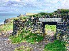 Sheep Creep (heathernewman) Tags: blue green october sunshine wall landscape path coast sea ocean cliff uk england southwestcoastpath padstow cornwall