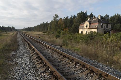 Kazarmas blakus Jelgavas-Liepājas dzelzceļam, 01.10.2017.