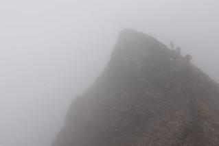 Hiking Penguin Ridge. Chugach State Park, Alaska
