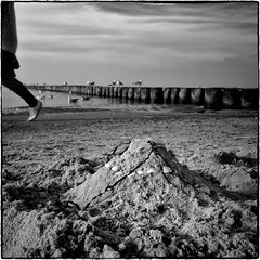 the thoughts times leave behind (ingrid.lowis) Tags: bw monochrome seaside strand baltic sea