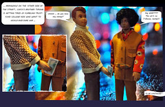 COFFY ~ Part three (ModBarbieLover) Tags: ken aa black funky allan male doll vintage mod 1970s blaxploitation flick movie scene money cash suede street