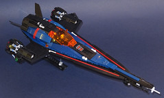 Space Police Striker (Librarian-Bot) Tags: lego moc space ship spaceship spacepolice police