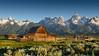 Mormon Row barn, Grand Teton NP (scott photos) Tags: row barn grandteton nationalpark gtnp grandtetonnp sunrise landscape nationalparkservice mormonrow moultenbarn moultonbarn moulton mormon byscottphotos nikon d800 2470mmf28 2470mm