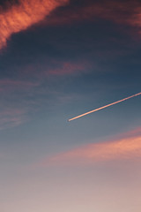 (matteoguidetti) Tags: pink sky sunset color sunsetporn nofilter canon skycolors plane italy