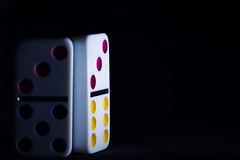 Side-Lit Domino MM (edvk49) Tags: sidelight ma macromondays light licht domino d7200 nikond7200 hmm play toy game games nikon