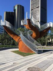 Michel de Broin, Dendrites, 2017 (art_inthecity) Tags: montréal montreal placebonaventure sculpture installationparticipative participativeinstallation artpublic publicart canada acier micheldebroin dendrites