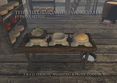 Cheesemonger's Worktable @Genre (nea.narstrom) Tags: craftingseries delkaaedilis cheesemonger medieval rustic vikings torvaldsland north norse