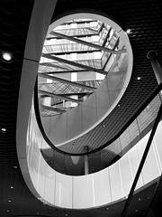 atrium (heinzkren) Tags: lichthof wien vienna austria panasonic lumix schwarzweis blackandwhite monochrome urban building architektur architecture gebäude innenhof linien kurven lines curves