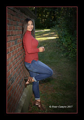 CIERRA - October 12, 2017 (Peter Camyre) Tags: senior portrait portraits pictures peter camyre photography photos girl high school teen pretty beautiful canon 5d mkiii blue jeans brunette brick wall ashley reservoir holyoke mass massachusetts glamor vogue flickr groups best image