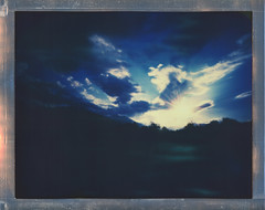 8x10 Summer Skies 2016 (sycamoretrees) Tags: 8x10 8x10pinhole analog clouds color8x10 color8x10201510 evening film impossible instantfilm integralfilm largeformat marianrainerharbach polaroid sky sunset