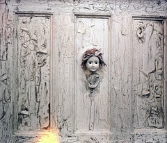 P67_101717_13 (Mark Dalzell) Tags: pentax p67 6x7 120 220 slr camera kodak portra 400vc 400 vc film 2017 new york comiccon nycomiccon javits convention center paint peeling creepy door